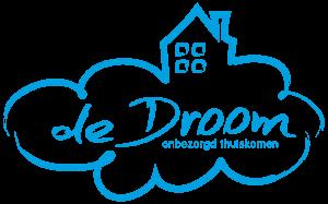 logo de droom blauw